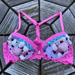 Other - Pink Lace Mermaid Rave Bra Top Halloween Costume